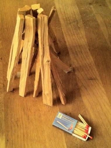 filet de b tonnets de bois de ch ne allume feu kymoa. Black Bedroom Furniture Sets. Home Design Ideas